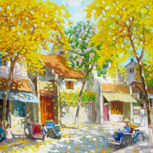 Autumn noon-01-Original Vietnamese Art