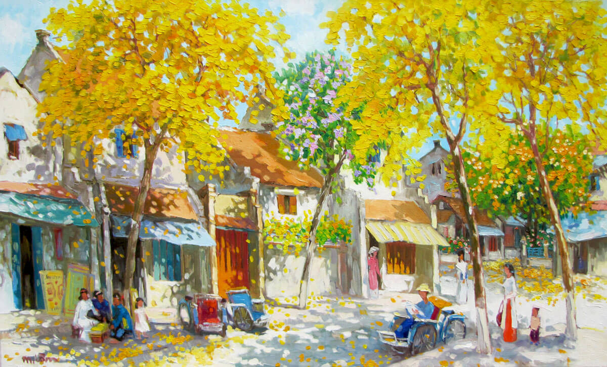 Autumn noon-01-Original Vietnamese Art