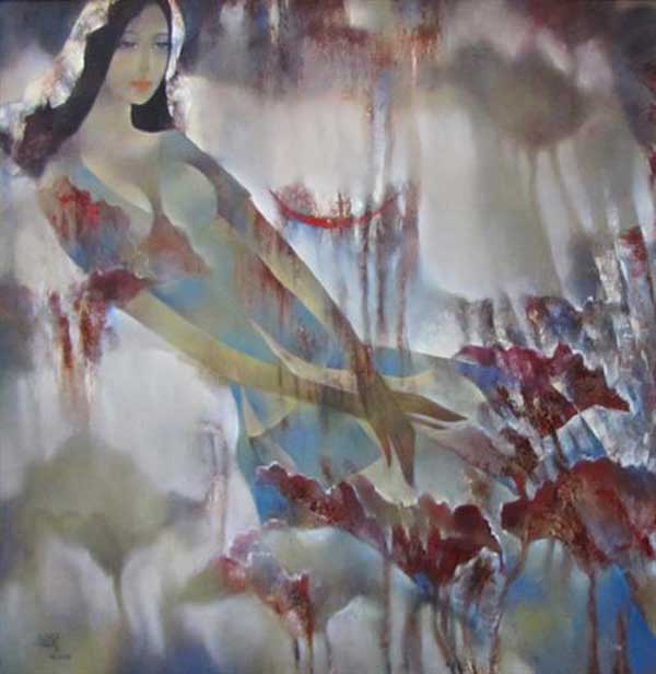 Deep thought -Original Vietnamese Art Gallery