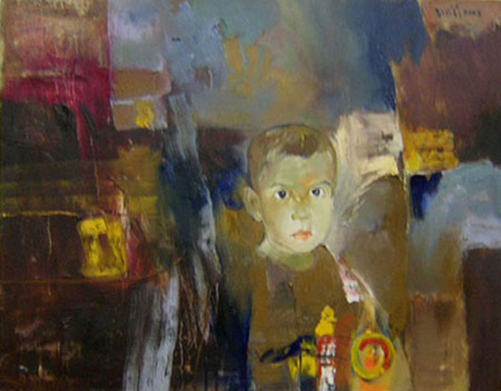 A young boy -Original Vietnamese Art Gallery