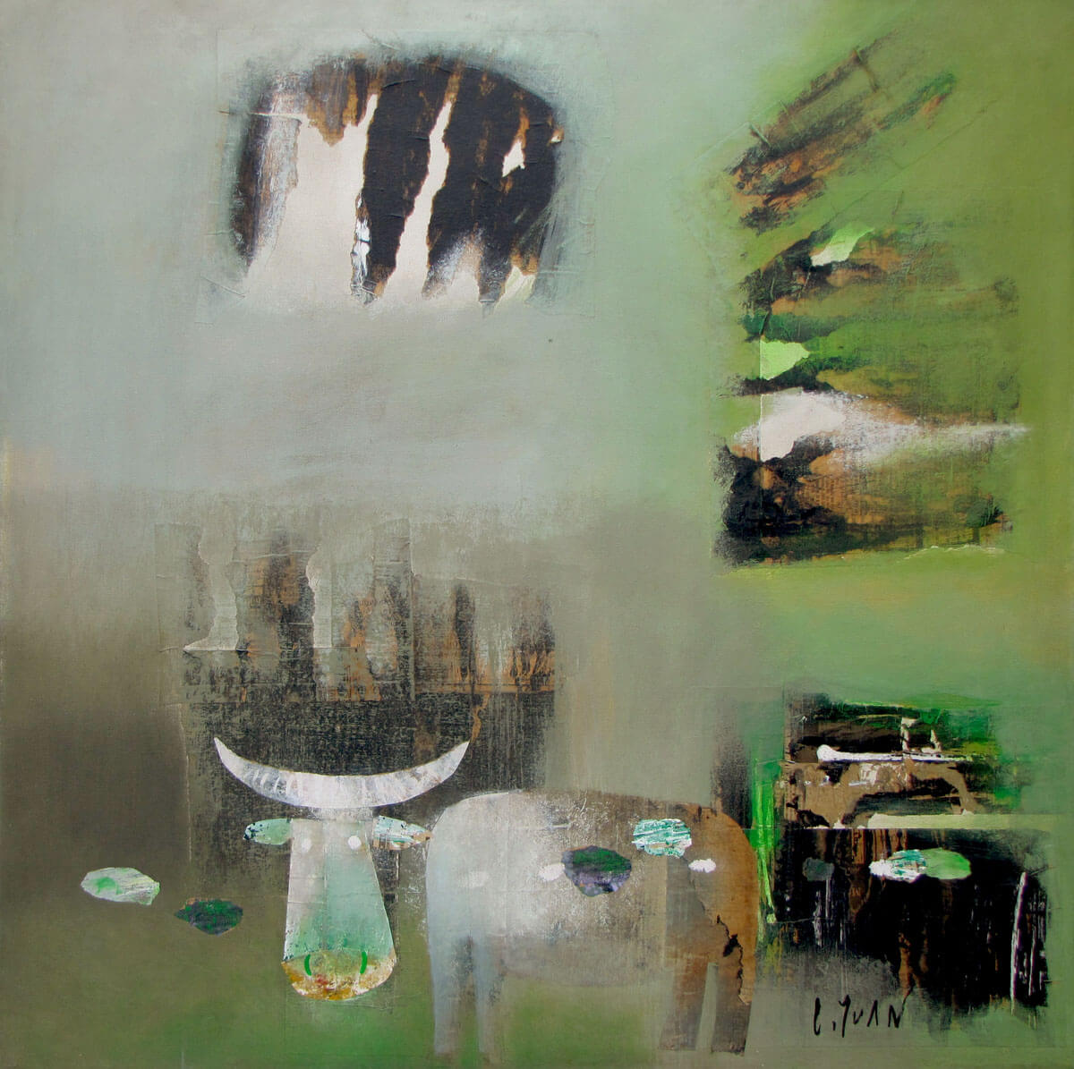 Abstract-03-Vietnamese Painting