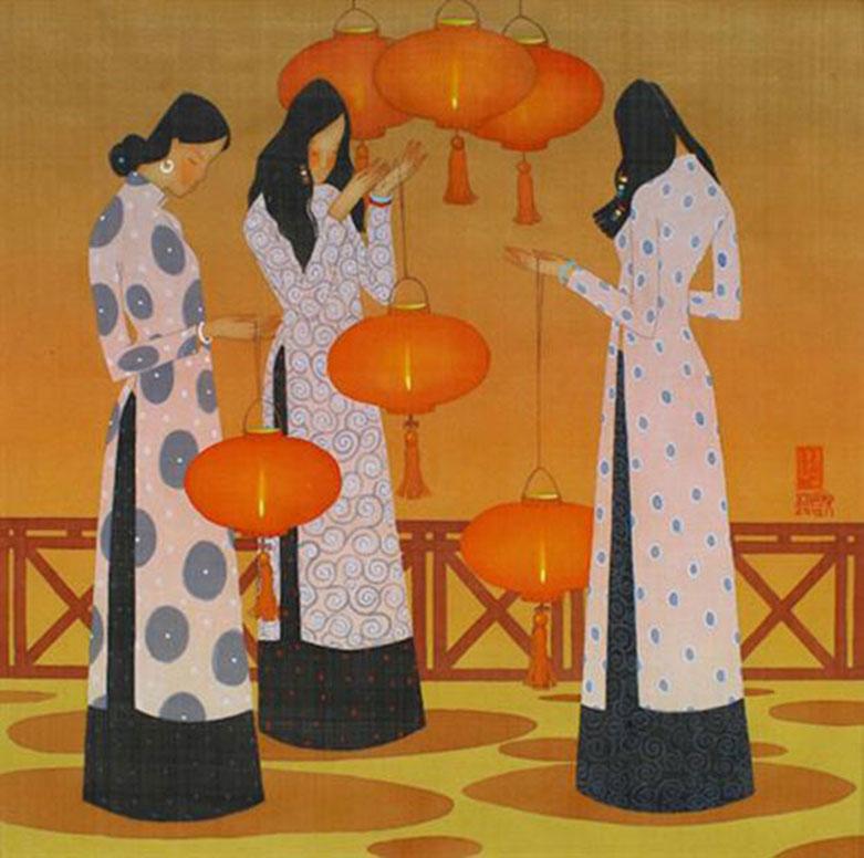 Autumn-Vietnamese Painting