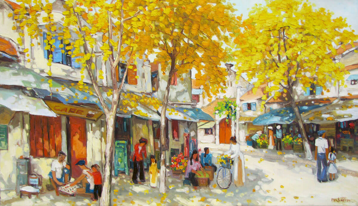 Autumn noon-03-Original Vietnamese Art