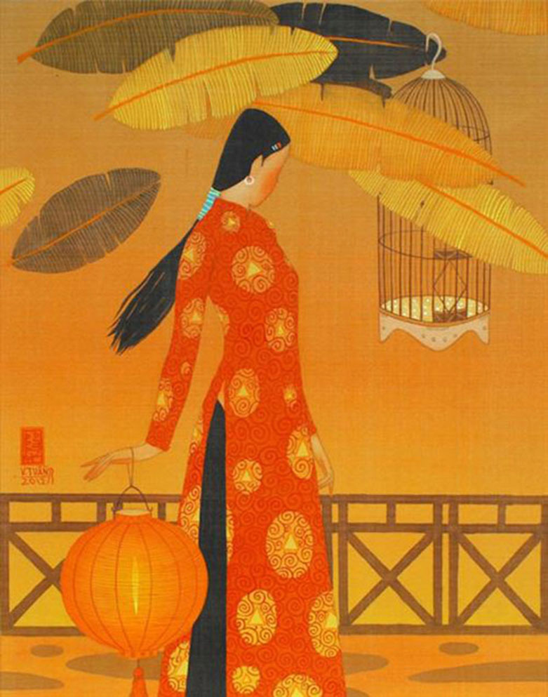 Autumn noon 1-Vietnamese Painting