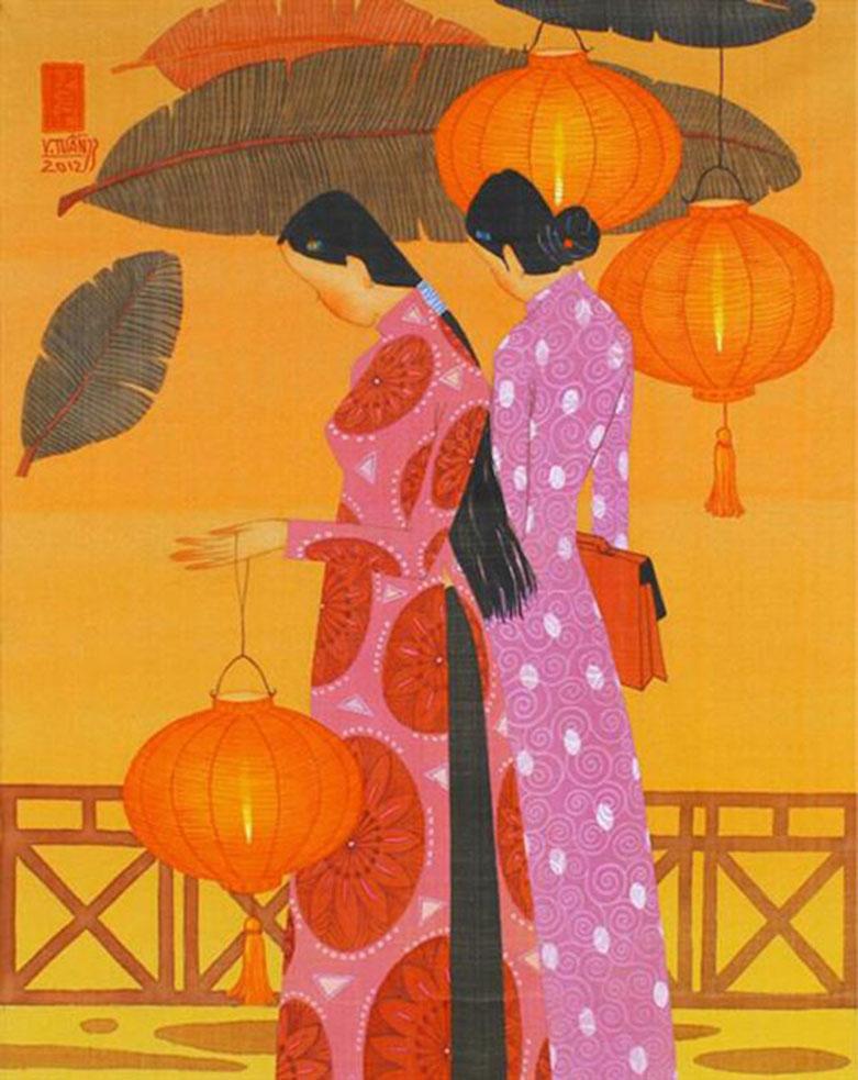 Autumn noon 3-Vietnamese Painting