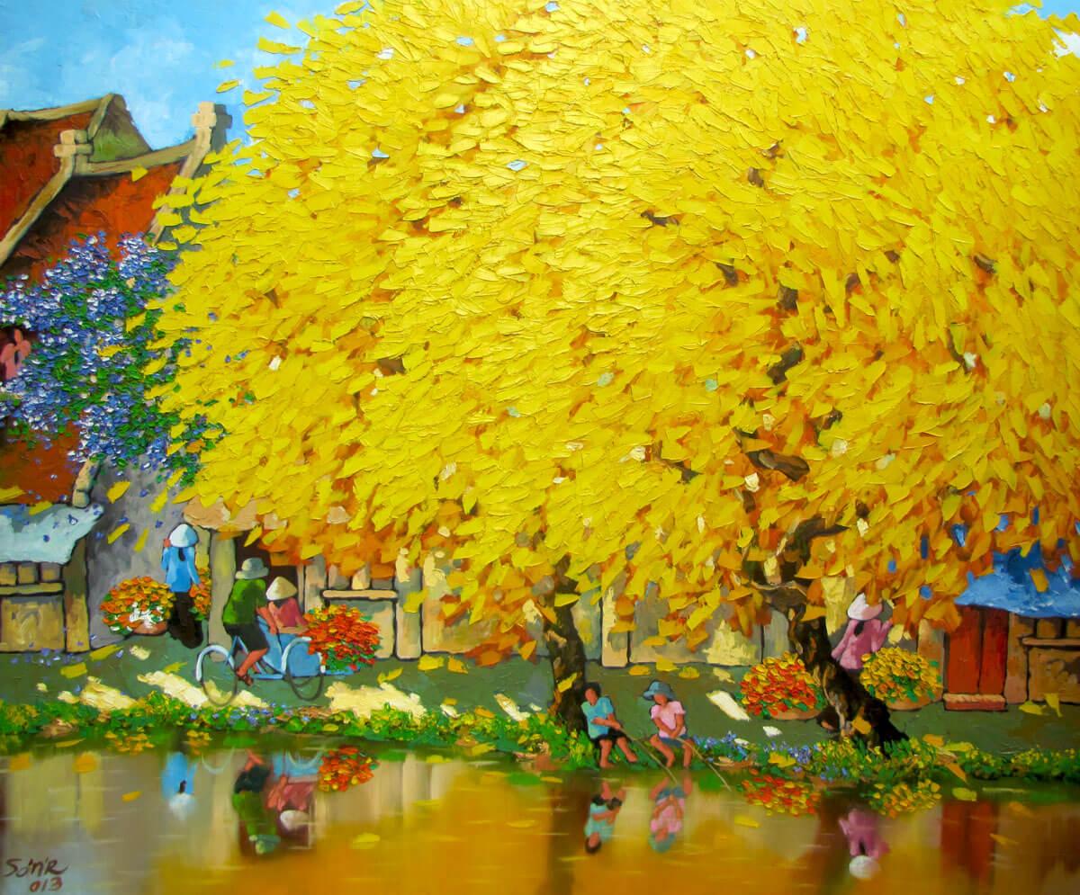 Autumn noon in Hanoi - DNS7-Original Vietnamese Art