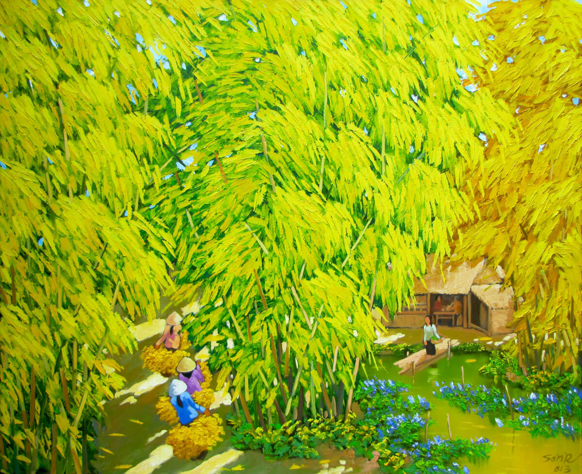 Autumn pond 04 - DNS-Original Vietnamese Art
