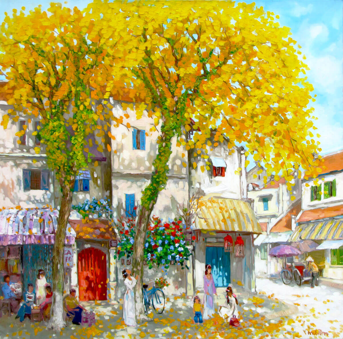 Autumn season-Original Vietnamese Art