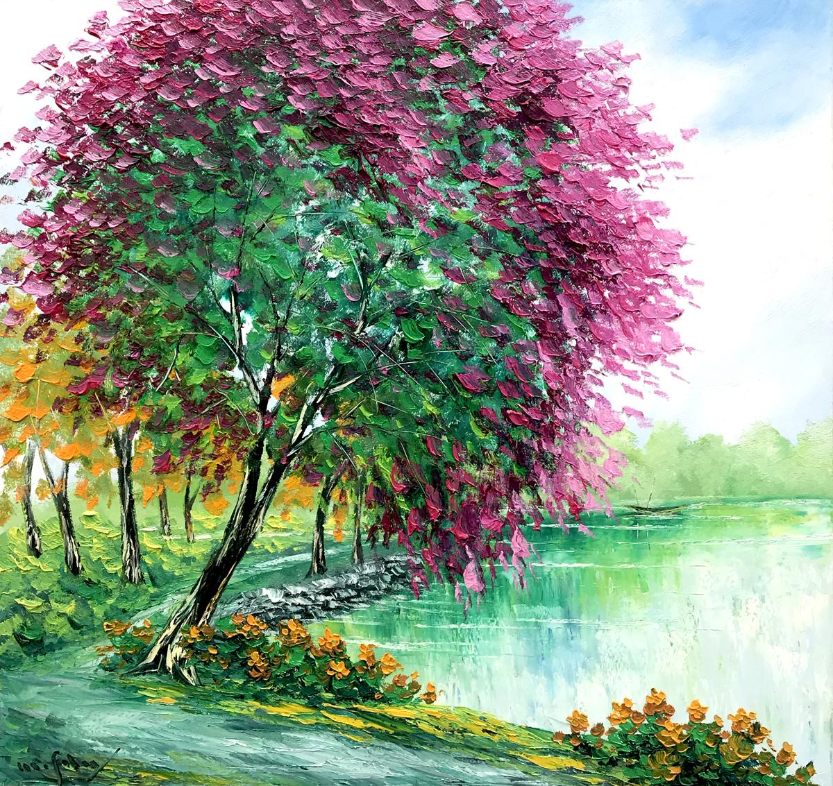 Blossom tree 02-90x95cm
