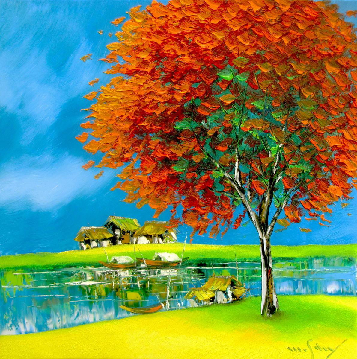 Blossom tree-60x60cm