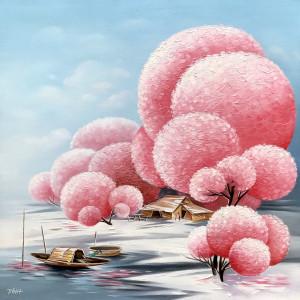 Blossom trees 01-TQD-60x60cm