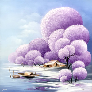 Blossom trees 02-TQD-60x60cm
