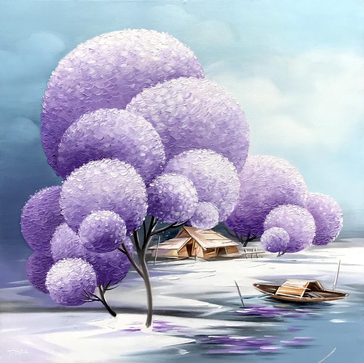 Blossom trees 03-TQD-60x60cm
