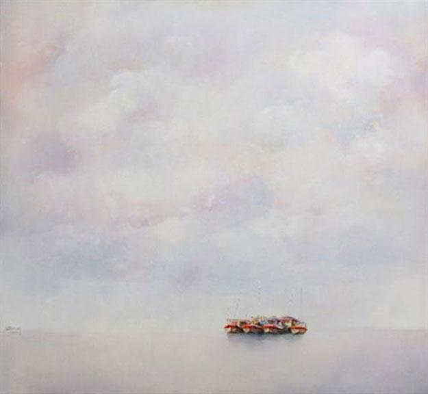 Boats and Sea-Original Vietnamese Art