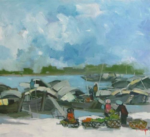 Cat Ba beach-Original Asian Art