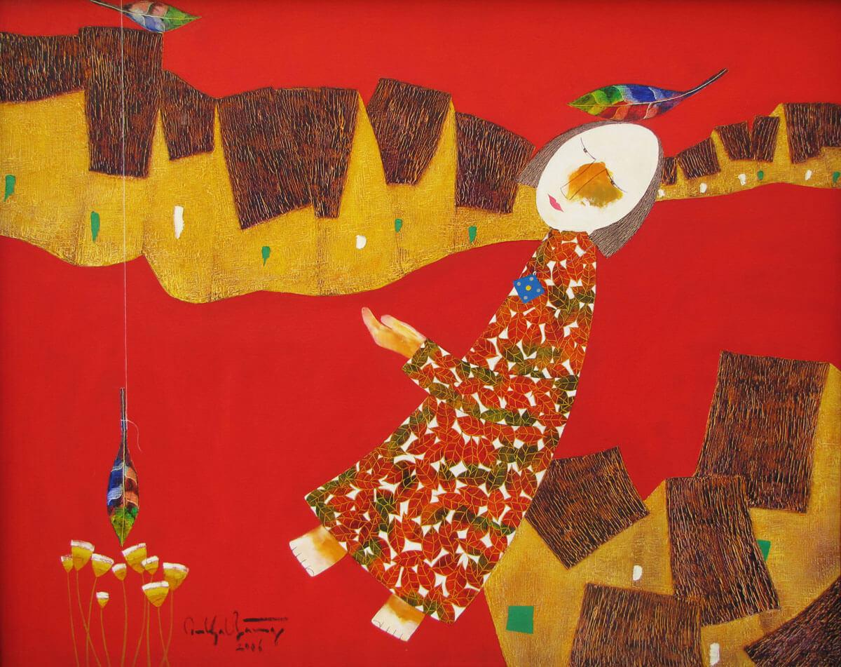 Childhood memories-Vietnamese Painting
