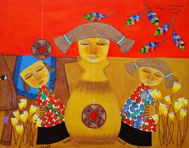 Childhood memory 01 -Vietnamese Painting
