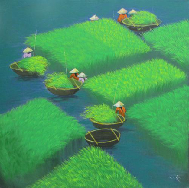 Early harvest 04-Vietnamese Painting