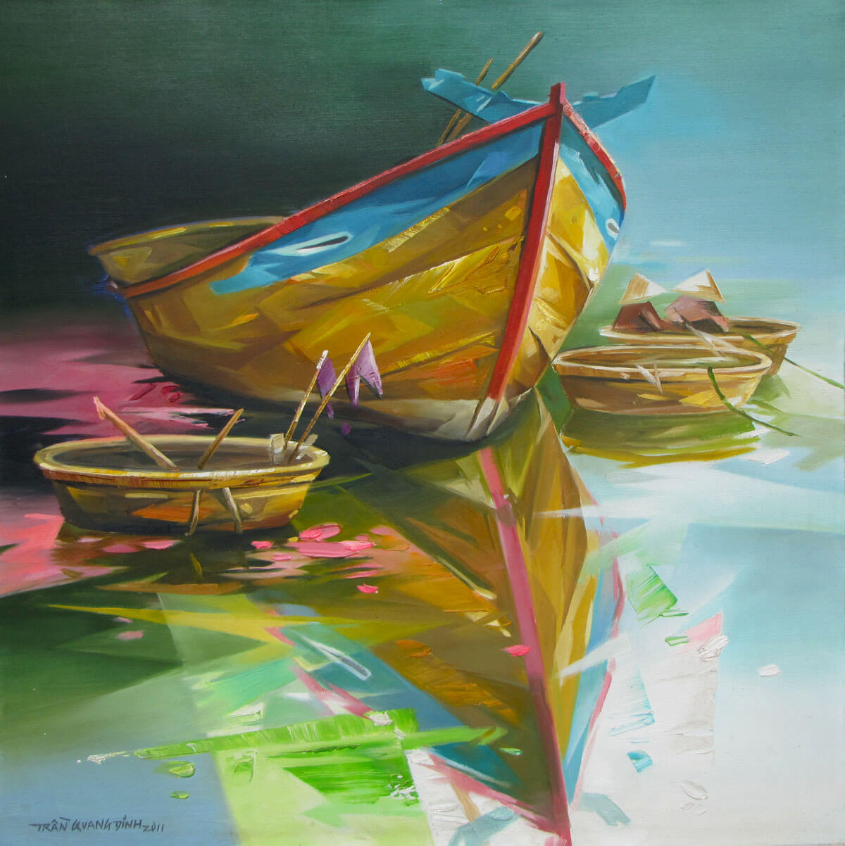 Fishing boats -Original Asian Art
