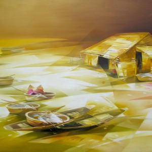 Fishing village 04-Original Asian Art