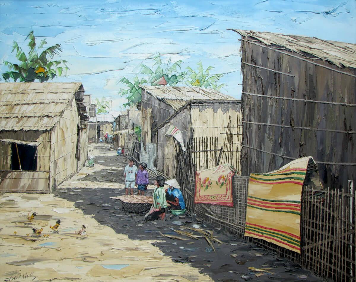 Fishing village-Original Vietnamese Art Gallery