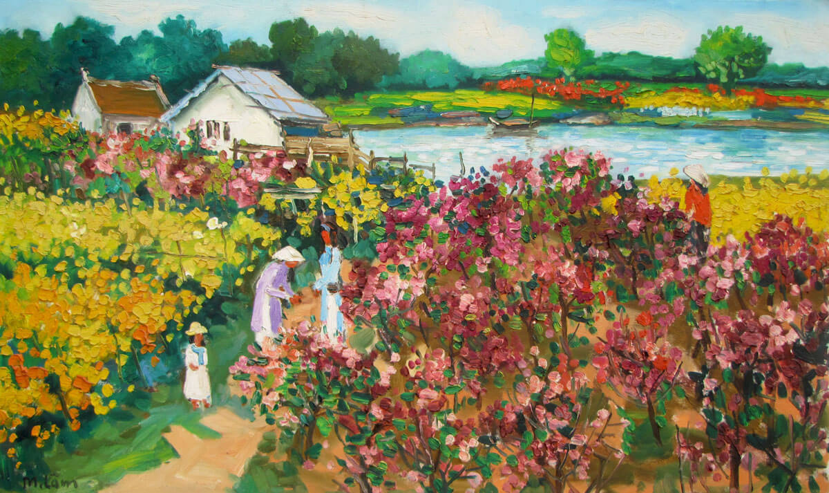 Flower garden 02-Original Vietnamese Art