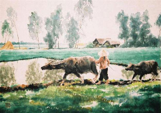 Going to working field 02-Original Asian Art