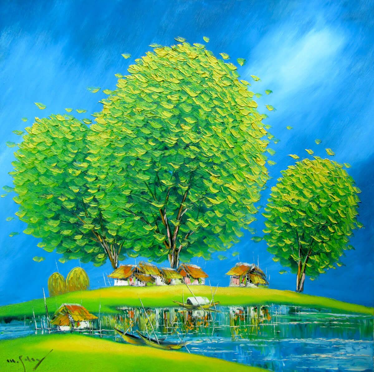 Green trees 2-Original Asian Art