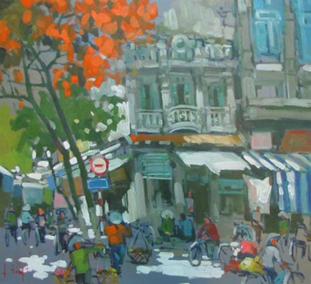 Hanoi end of Summer-Original Asian Art
