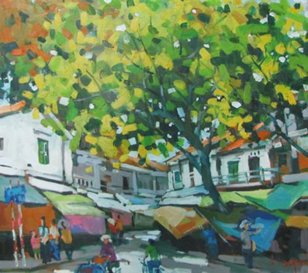Hanoi in a quiet noon-Original Asian Art