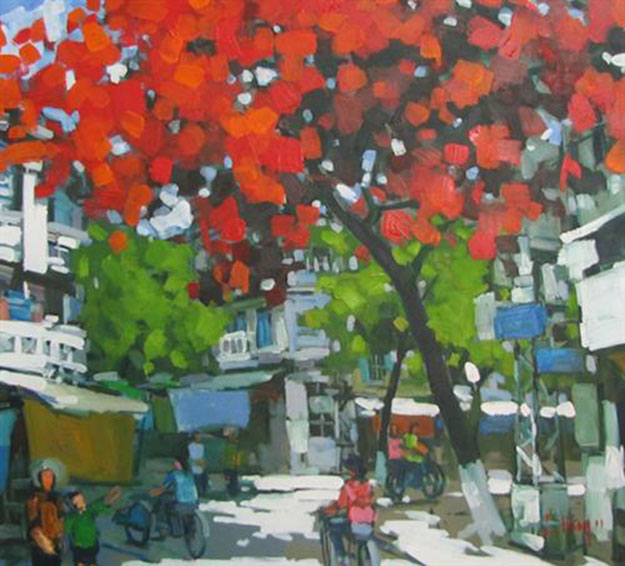 Hanoi in summer noon-Original Asian Art