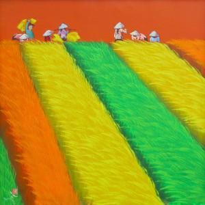 Harvest season 02-Vietnamese Painting