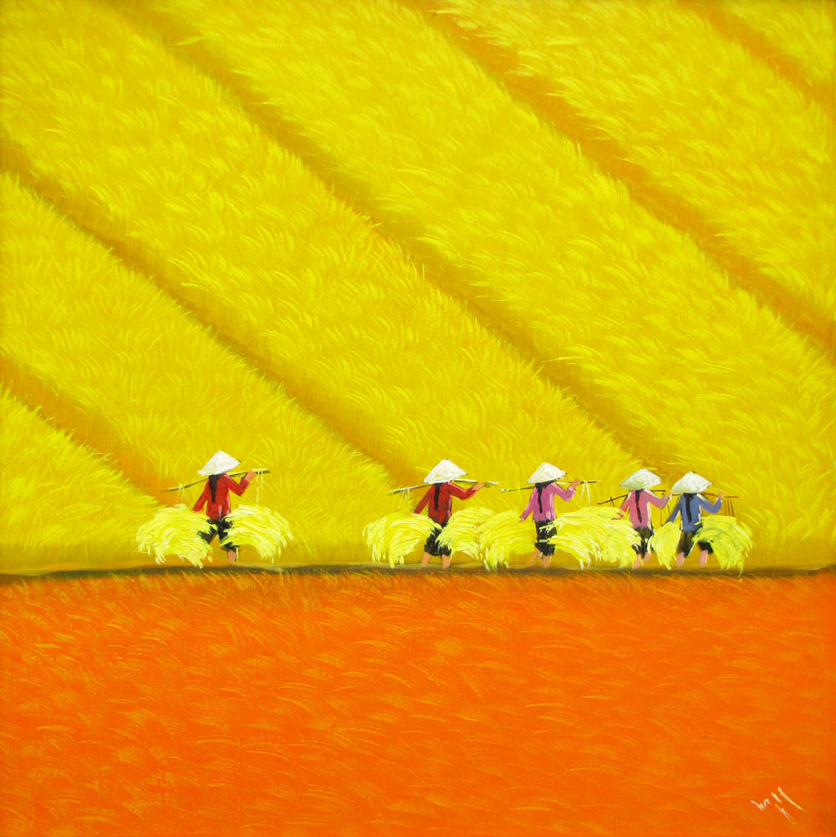 Harvest season 10-Vietnamese Painting