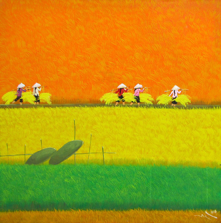 Harvest season 11 -Vietnamese Painting