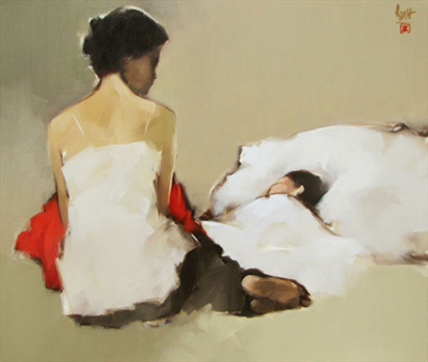 Keep warm - My baby-Original Vietnamese Art