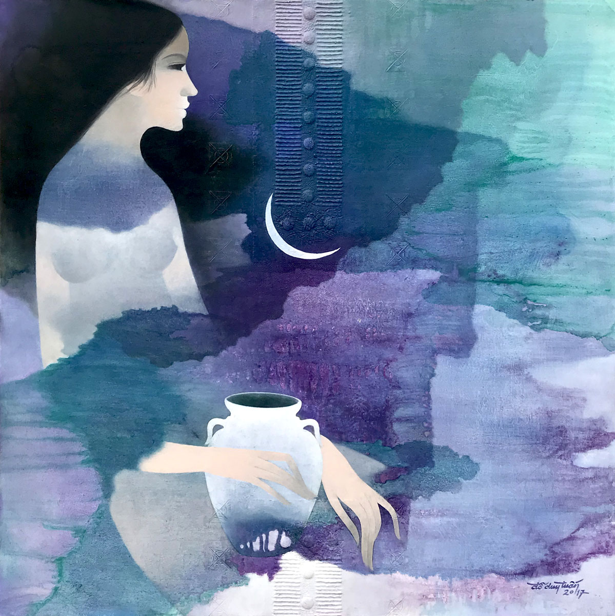 Lady and the moon-90x90