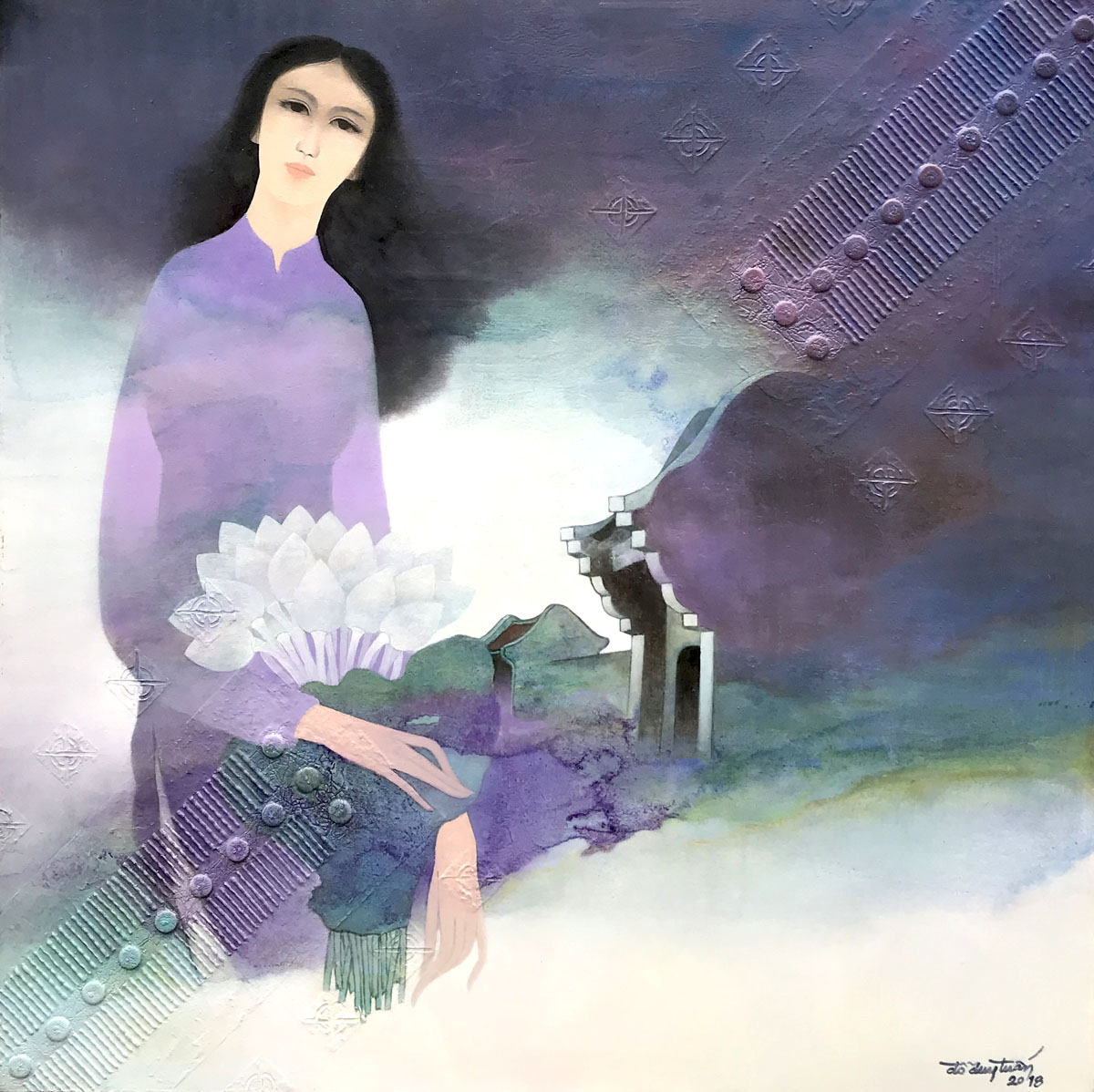 Lady with Lotus-90x90