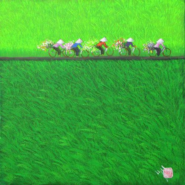 Morning-Vietnamese Painting