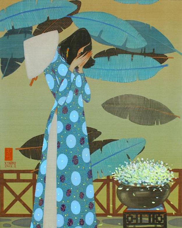 Morning in Spring-Vietnamese Painting