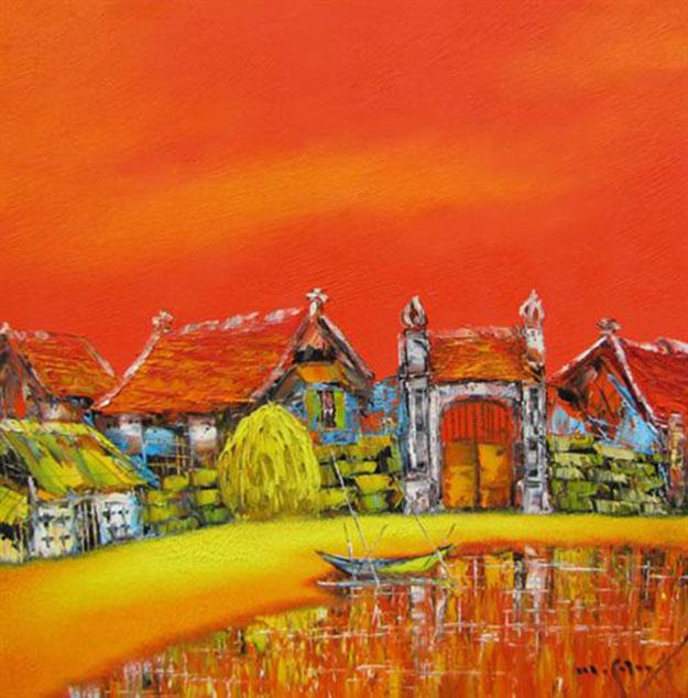 My hometown 01-Original Asian Art