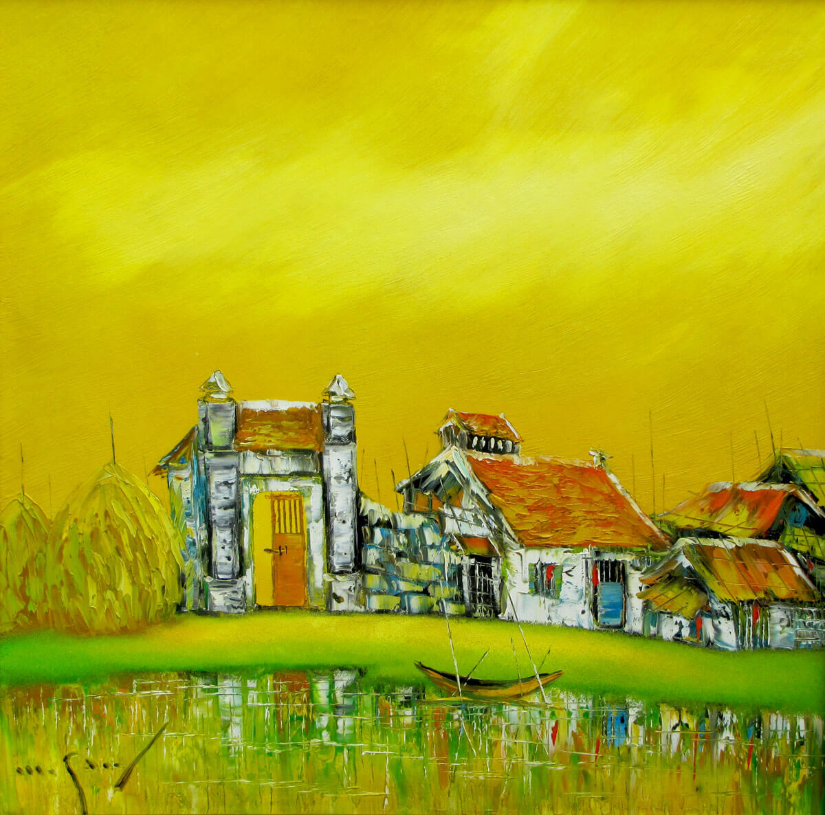 My hometown 02-Original Asian Art