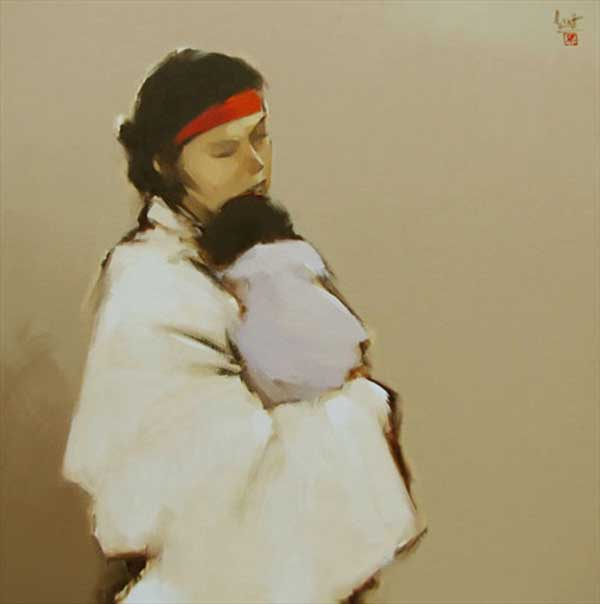 The Mother 01-Original Vietnamese Art