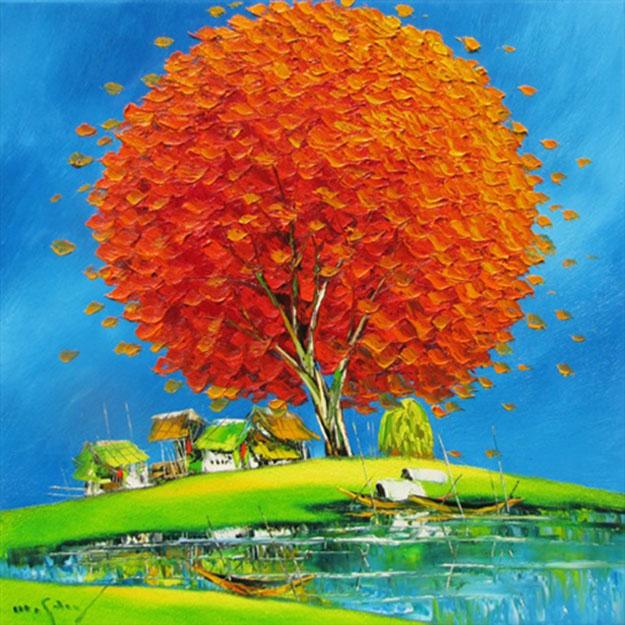 Noon in Summer 02-Original Asian Art