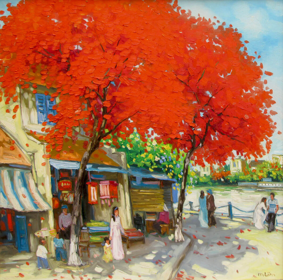 Noon in summer-Original Vietnamese Art
