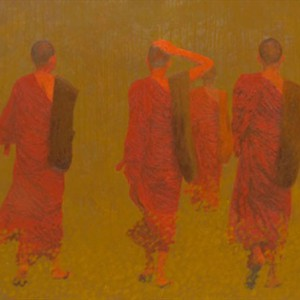 On The Light Road -Original Vietnamese Art