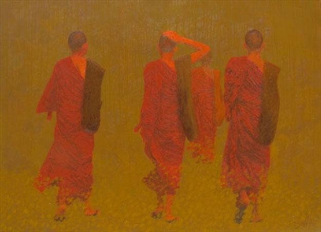 On The Light Road -Original Vietnamese Art