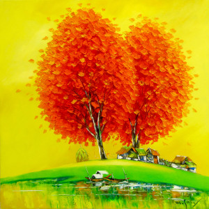 Orange Trees-90x90cm