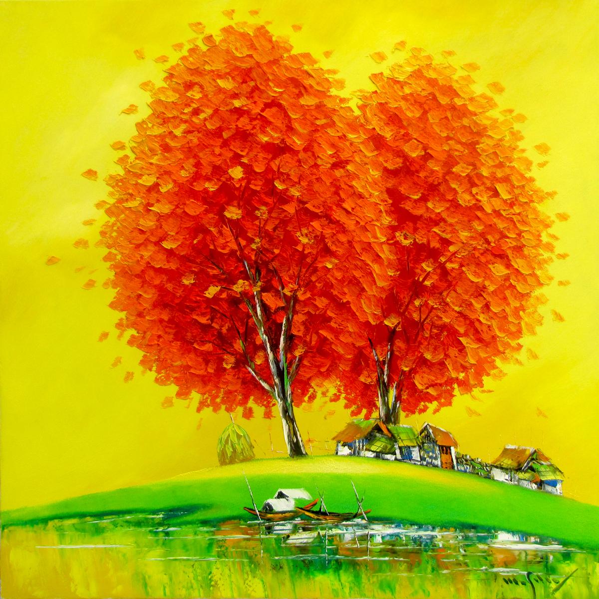 Orange Trees-90x90cm