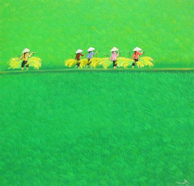 Paddy Field 05 - Vietnamese Painting