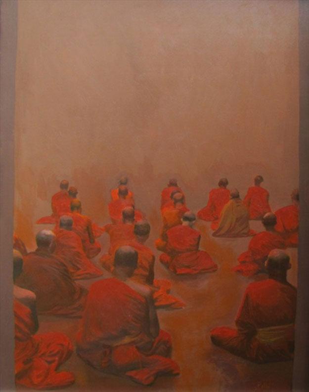 Praying 02-Original Vietnamese Art